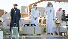 Minister of Culture and Sports HE Salah bin Ghanem bin Nasser al-Ali (centre), Qatar and Asian Eques